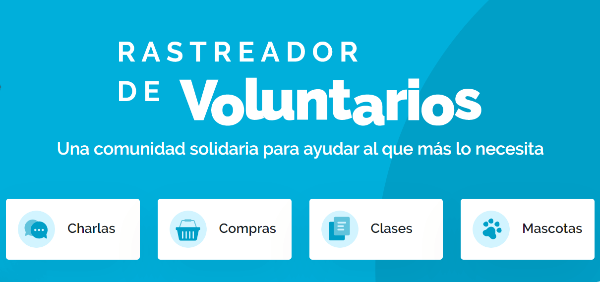 rastreador de voluntarios